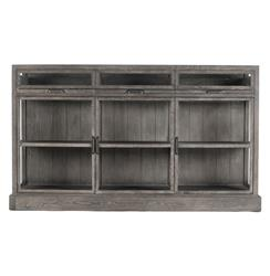Hazel Creek Industrial Loft Grey Oak Display Media Wall Cabinet