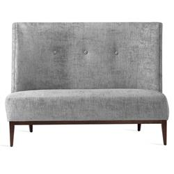 Interlude Chloe Mid Century Feather Chenille Upholstered High Back Dining Bench