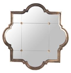 Marissa Quatrefoil Antique Bronze Large Mirror