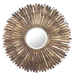 Margot Hollywood Regency Antique Bronze Sunburst Mirror