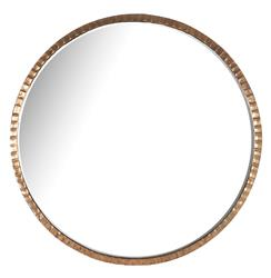 Yorkville Hollywood Regency Large Thin Round Wall Mirror - 40D
