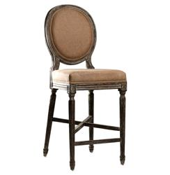 Medallion Oak French Country Bar Stool In Copper Linen