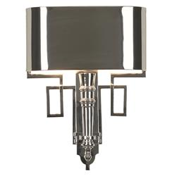 Pasadena Hollywood Regency Polished Nickel Deco Style Sconce