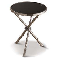 Bijou Global Bazaar Black Silver Twig Branch Accent Side End Table