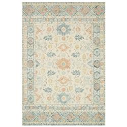 """Loloi Norabel French Country Ivory Blue Wool Patterned Rug - 3'6""""x5'6"""""""