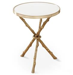 Bijou Global Bazaar Gold White Twig Branch Accent Side End Table