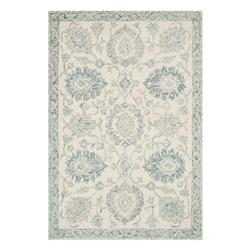 """Emmalyn French Country Blue Wool Floral Patterned Rug - 3'6""""x5'6"""""""