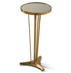 Monaco French Art Deco Regency Style Antique Brass Drink End Table