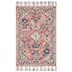 Loloi Elka Global Bazaar Pink Wool Floral Patterned Rug - Sample