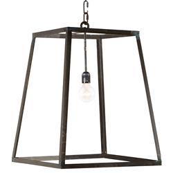 Ludwig Industrial Loft Iron Glass 1 Light Lantern Pendant