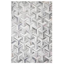 "Loloi Maddox Modern Grey Faux Hair on Hide Geometric Patterned Rug - 3'6""x5'6"""