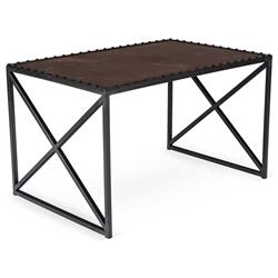 Gispen Industrial Loft Leather Iron Rectangular Coffee Table