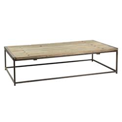 Thayer Rustic Lodge Reclaimed Elm Wood Coffee Table