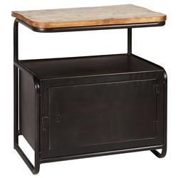 Meyer Industrial Loft Iron Reclaimed Wood Locker Side Table