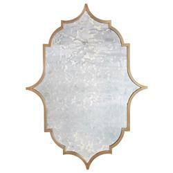 Talbot Hollywood Regency Bronze Iron Frame Heavy Antique Mirror