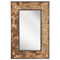 Hideout Rustic Lodge Reclaimed French Wine Barrel Staves Mirror