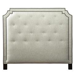 Miller Hollywood Regency Fawn Upholstered Queen Headboard