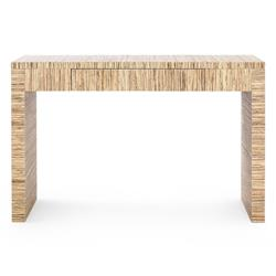 Bungalow 5 Morgan Modern Classic Brown Papyrus Wood Rectangular Console Table