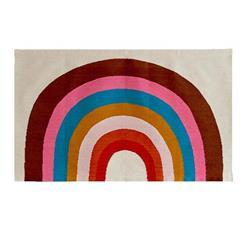 Oeuf Modern Classic Rainbow Wool Patterned Rug - 3'x5'