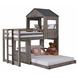 Avery Rustic Lodge Grey Kids Treehouse Bed