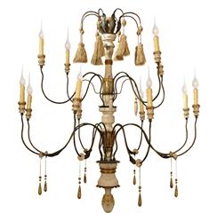 Claire French Country Flea Market 11 Light Grand Chandelier