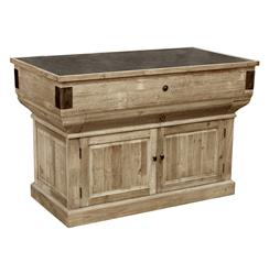 Oleron French Country Reclaimed Wood Rustic Kitchen Island | HS-LD46-NA