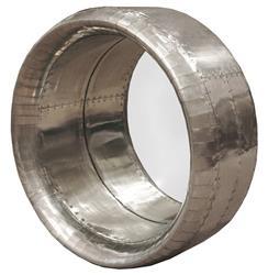 Lindbergh Industrial Loft Large Metal Round Mirror