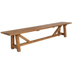 Jacob Rustic Lodge Brown Teak Outdoor Bench