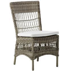 Oliver Coastal Beach Beige Aluminum Outdoor Side Chair
