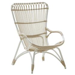 Laura Coastal Beach White Woven Aluminum Frame Outdoor Chair