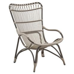 Laura Coastal Beach Grey Woven Aluminum Frame Outdoor Chair