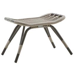 Lai Coastal Beach Grey Woven Aluminum Frame Outdoor Foot Stool