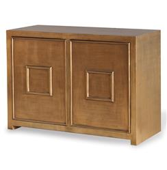 Park Avenue Hollywood Regency Style Gold Leaf Cabinet