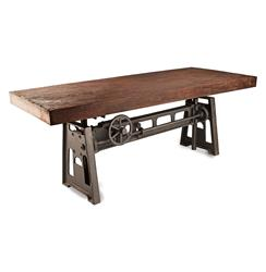 Gerrit Industrial Style Rustic Pine Iron Dining Table | AM-DT0024