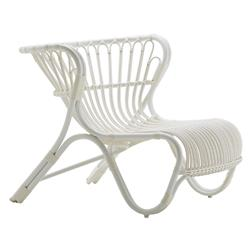 Charles Coastal Beach White Aluminum Outdoor Lounge Chair