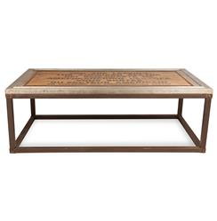 Charlie Industrial Loft Wood Iron Historical Coffee Table | AM-CT0069