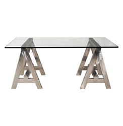 Aldo Industrial Style Stainless Steel Modern A-Frame Desk | AM-DSK0008A