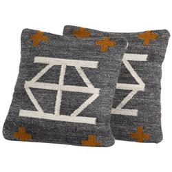 Jaxon Global Bazaar Grey Aztec Outdoor Pillow - Set of 2