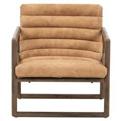 Camila Modern Classic Brown Suede Upholstered Brown Wood Occasional Arm Chair