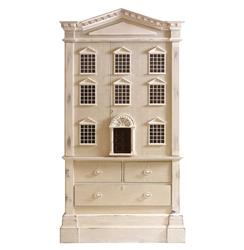 Louise French Country Tall Dollhouse 3 Drawer Dresser Cabinet
