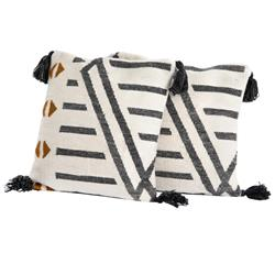 Christian Global Bazaar Multi Color Linear Patterned Outdoor Pillow - Set of 2