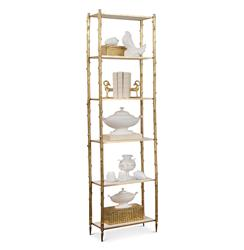 Spring Lake Coastal Beach Gold Twig White Marble Display Shelves