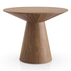 Modloft Sullivan Modern Classic Walnut Wood Round Side End Table