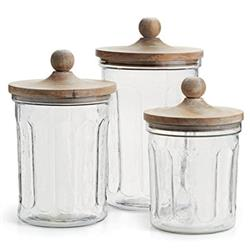 Owen Rustic Lodge Glass Canisters - Set of 3 | Kathy Kuo Home
