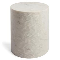 Erin Modern Classic White Marble Outdoor Stool