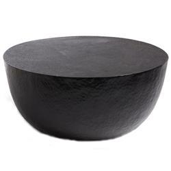 Cedric Modern Classic Black Iron Round Round Coffee Table
