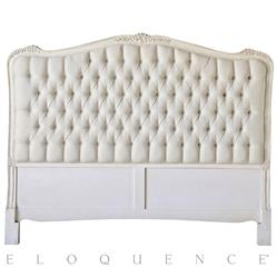 Eloquence® Sophia Queen Headboard in Weathered White | ELO-HBRC01QF-FL-WW