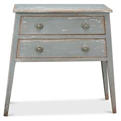 Sophie French Century Distressed Grey Pine 2 Drawer Console Table