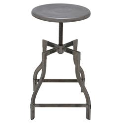 Quinley Industrial Loft Outdoor Safe Adjustable Height Counter Cafe Stool | Kathy Kuo Home