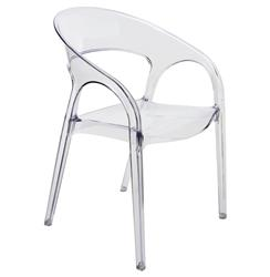 Kessler Modern Round Back Acrylic Clear Dining Chair